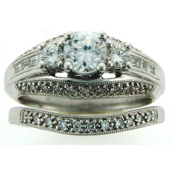 3-Stone Diamond Wedding Set