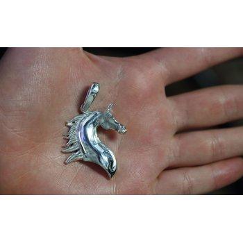 Sterling Silver Arabian Horse Head Pendant