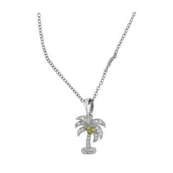 Diamond Palm Tree Pendant
