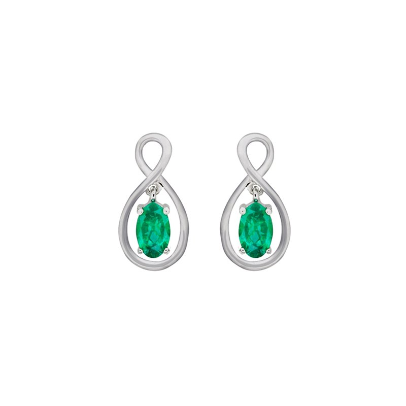 European Goldsmith Closeouts Emerald Earrings