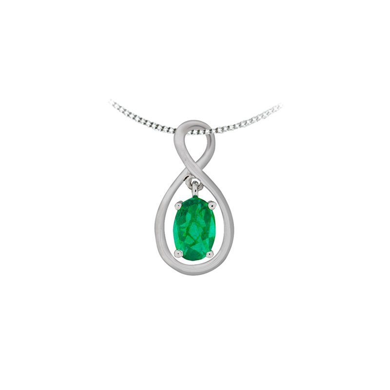 European Goldsmith Closeouts Emerald Infinity Necklace