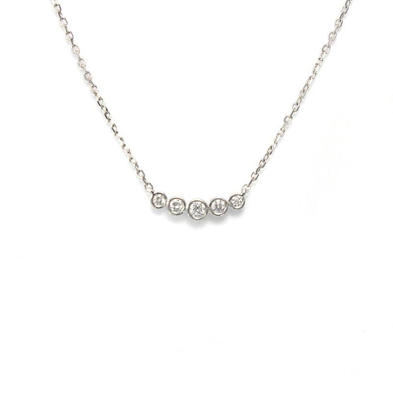European Goldsmith Closeouts Diamond Bezel Necklace