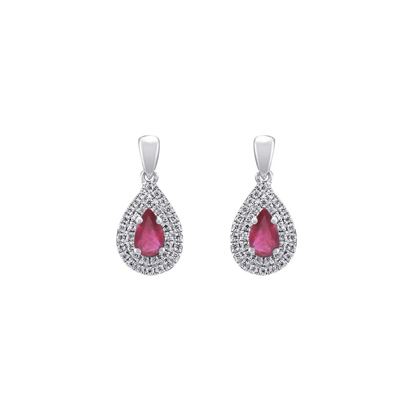 European Goldsmith Closeouts Ruby Earrings