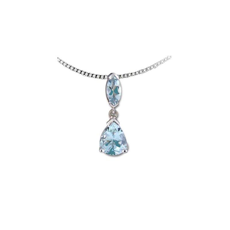 European Goldsmith Closeouts Aquamarine Necklace