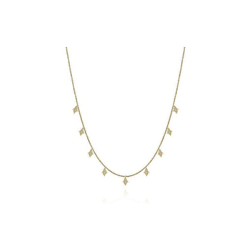 Gabriel & Co 14KY 17.5IN 0.28TDW STATION DANGLE NECKLACE