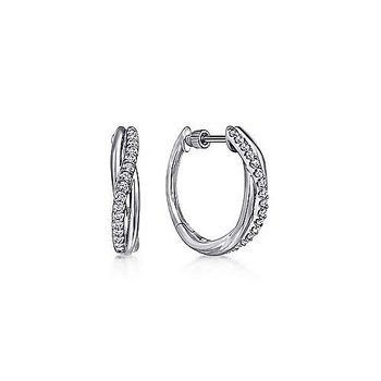 SS TWISTED 0.40TW WHITE SAPPHIRE HUGGIES