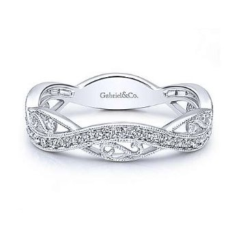 14KW SZ 6.5 0.23TDW TWISTED FILIGREE STACKABLE RING