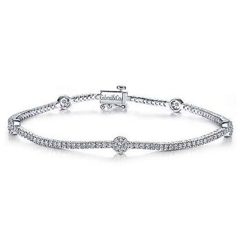 14KW 7IN 1.28TDW FASHION TENNIS BRACELET