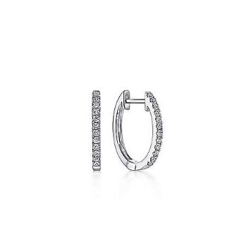14KW 0.18TDW 10MM PAVE HUGGIE HOOP EARRINGS