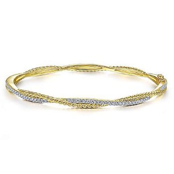 14KY 6.5IN 0.42TDW TWISTED ROPE BANGLE