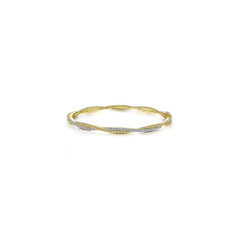 Gabriel & Co 14KY 6.5IN 0.42TDW TWISTED ROPE BANGLE