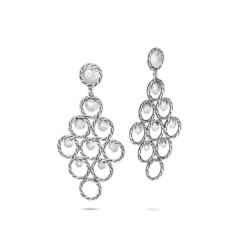 John Hardy Dot Hammered Chandelier Earring