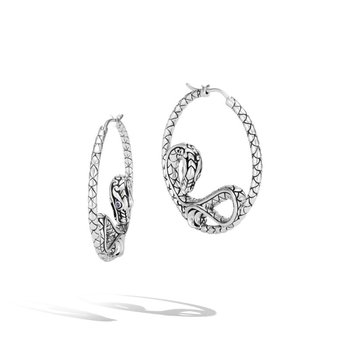 Naga Medium Hoop Earrings