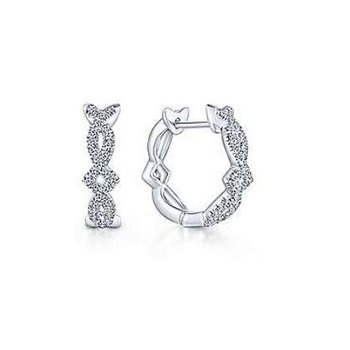 14KW 0.27TDW 10MM TWISTED HUGGIE HOOP EARRINGS