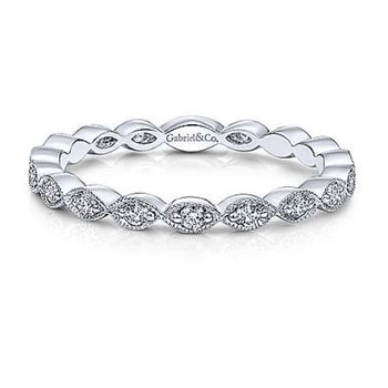 14KW SZ 6.5 0.25TDW MARQUISE STATION STACKABLE RING