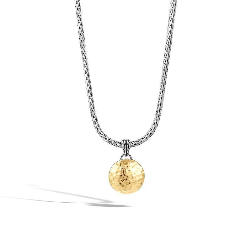 John Hardy Hammered Reversible Pendant Necklace