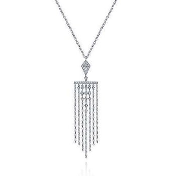14KW 24IN 0.37TDW FRINGE ACCENT NECKLACE