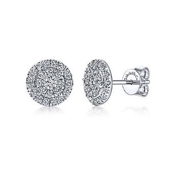14KW 0.53TDW DOUBLE HALO STUD EARRINGS