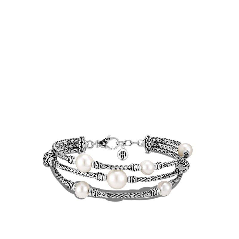 John Hardy Pearl Triple Row Bracelet