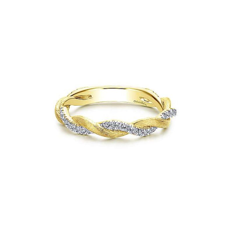 Gabriel & Co 14KY SZ 6.5 0.21TDW TWISTED STACKABLE RING