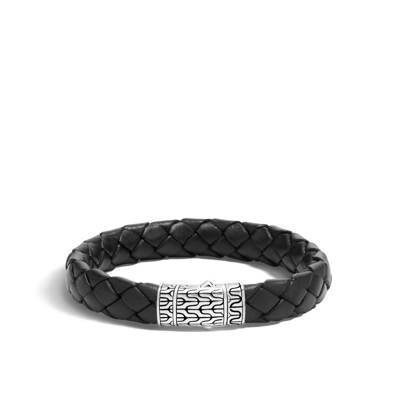 John Hardy Classic Chain Black Rubber Bracelet
