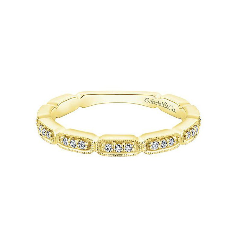 Gabriel & Co 14KY SZ 6.5 0.13TDW SEGMENTED STACKABLE RING
