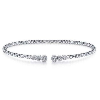 14KW 6.5IN 0.23TDW BEADED FASHION BANGLE