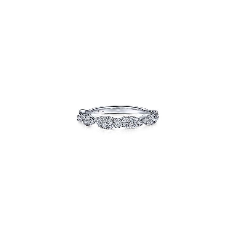 Gabriel & Co 14KW 0.41TDW TWISTED STACKABLE RING