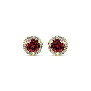14KY 0.63TGW 0.08TDW STUD EARRINGS
