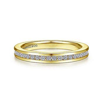 14KY 0.25TDW GH/SI2 CHANNEL SET ANNIVERSARY BAND