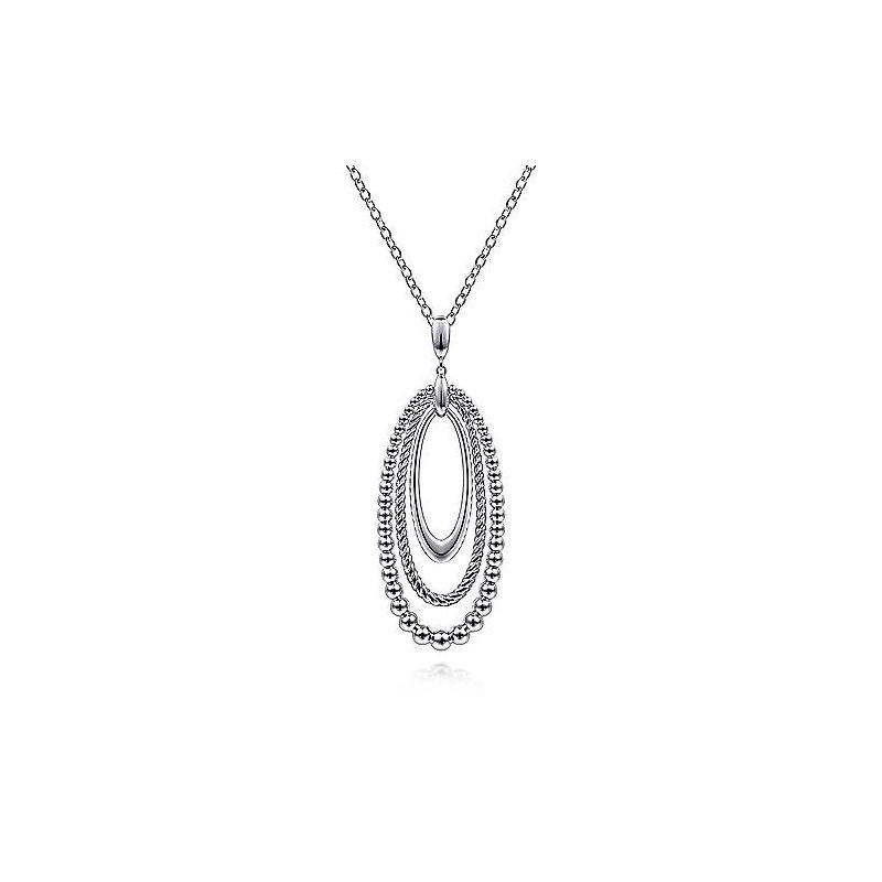 Gabriel & Co 24 inch 925 Sterling Silver Pendant Necklace