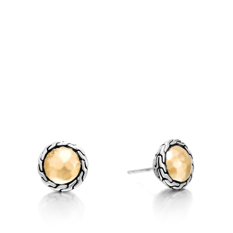 John Hardy Classic Chain Round Hammered Stud Earring