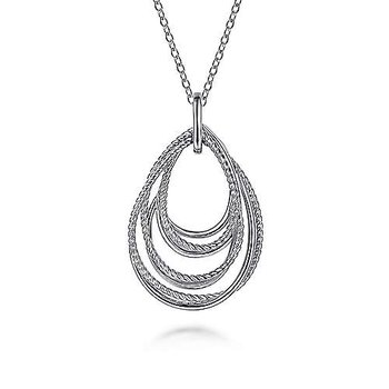 SS 24IN ROPE FASHION PENDANT NECKLACE