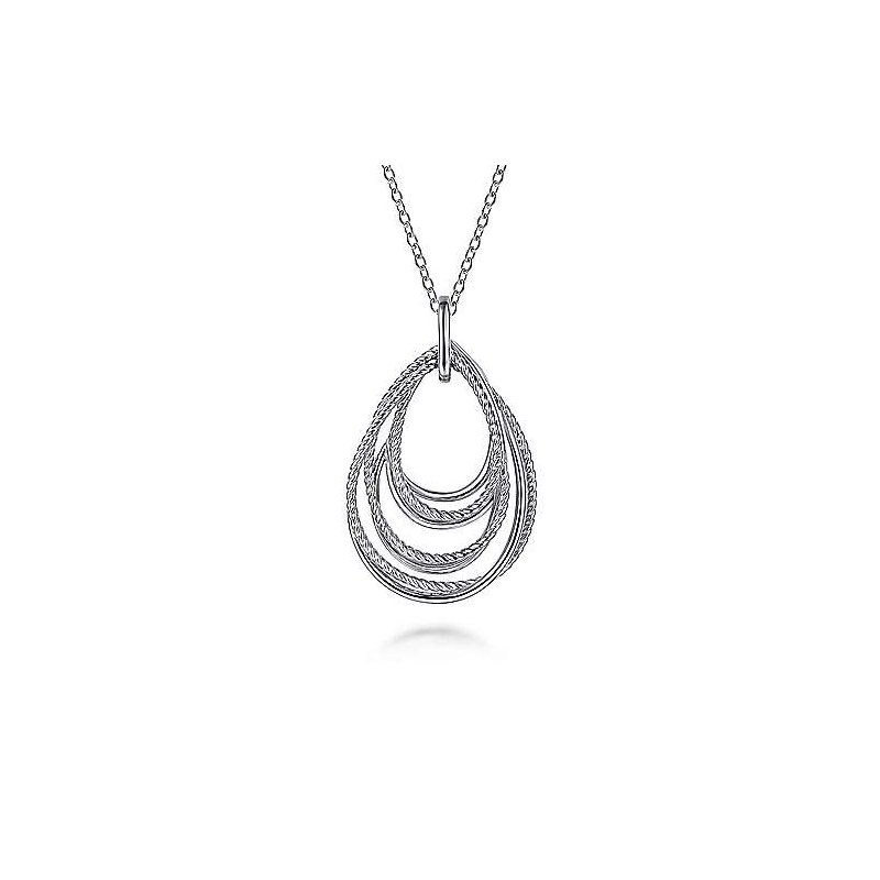 Gabriel & Co SS 24IN ROPE FASHION PENDANT NECKLACE