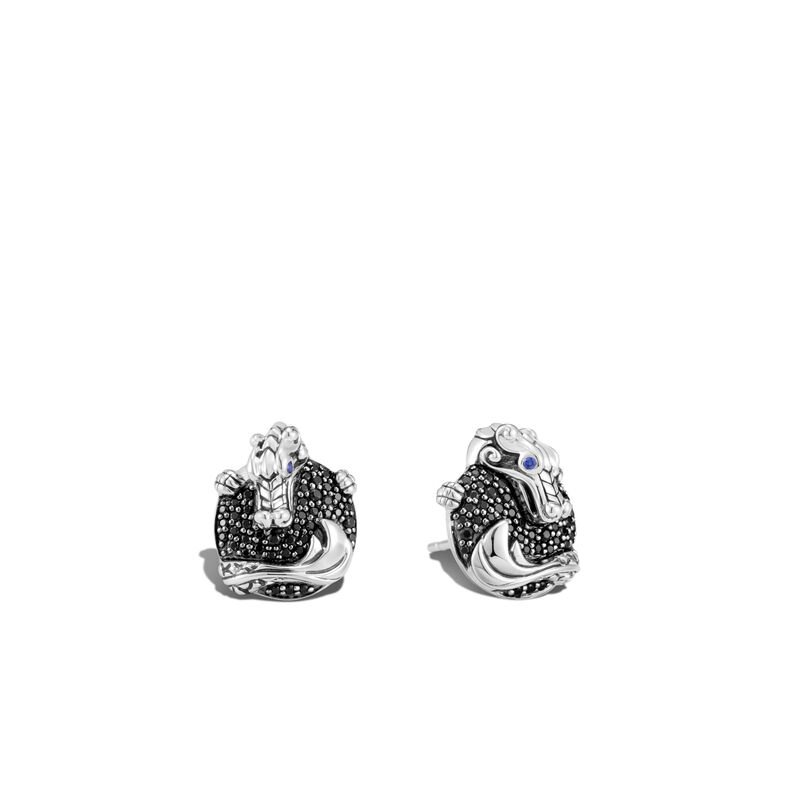 John Hardy Naga Pave Stud Earrings