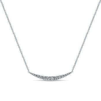 14KW 17.5IN 0.51TDW CURVED BAR NECKLACE