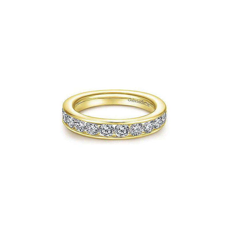 Gabriel & Co 14K Yellow Gold Diamond Anniversary Band