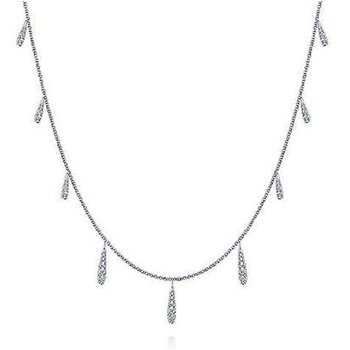 14KW 17.5IN 0.59TDW DANGLING STATION NECKLACE