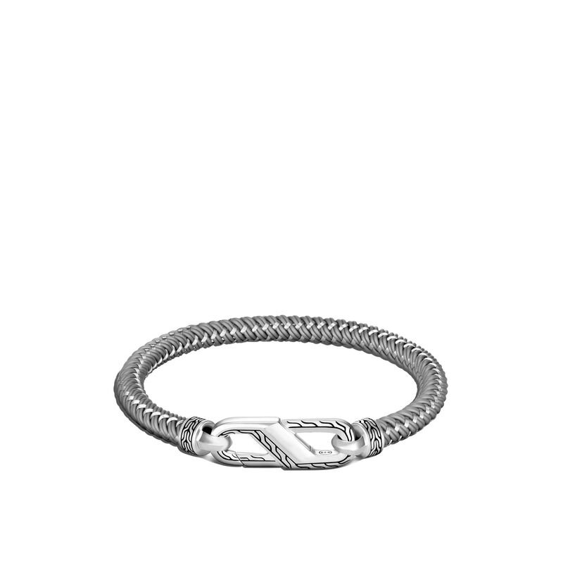 John Hardy Classic Chain Bracelet with Steel Cord