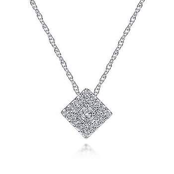 14KW 18IN 0.11TDW SQUARE PENDANT NECKLACE