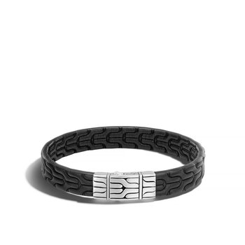 Classic Chain Embossed Leather Bracelet