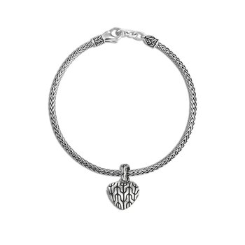 Classic Chain Heart Charm Bracelet