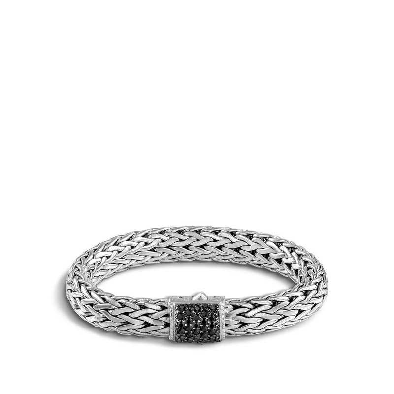 John Hardy Classic Chain Bracelet with Treated Black Sapphire