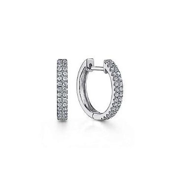14KW 0.29TDW 10MM CLASSIC HUGGIE HOOP EARRINGS