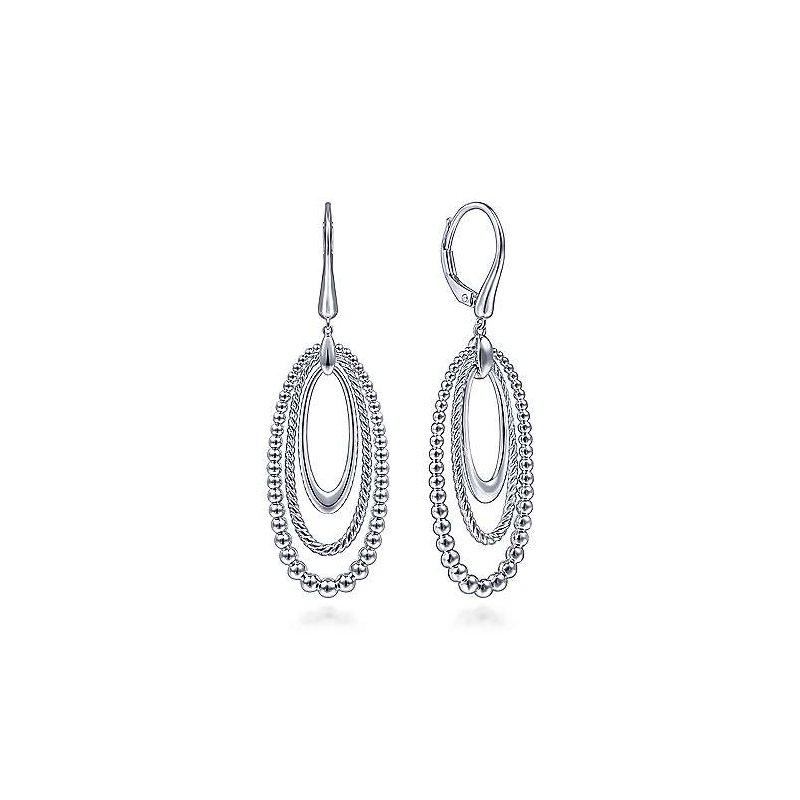 Gabriel & Co 925 Sterling Silver Drop Earrings