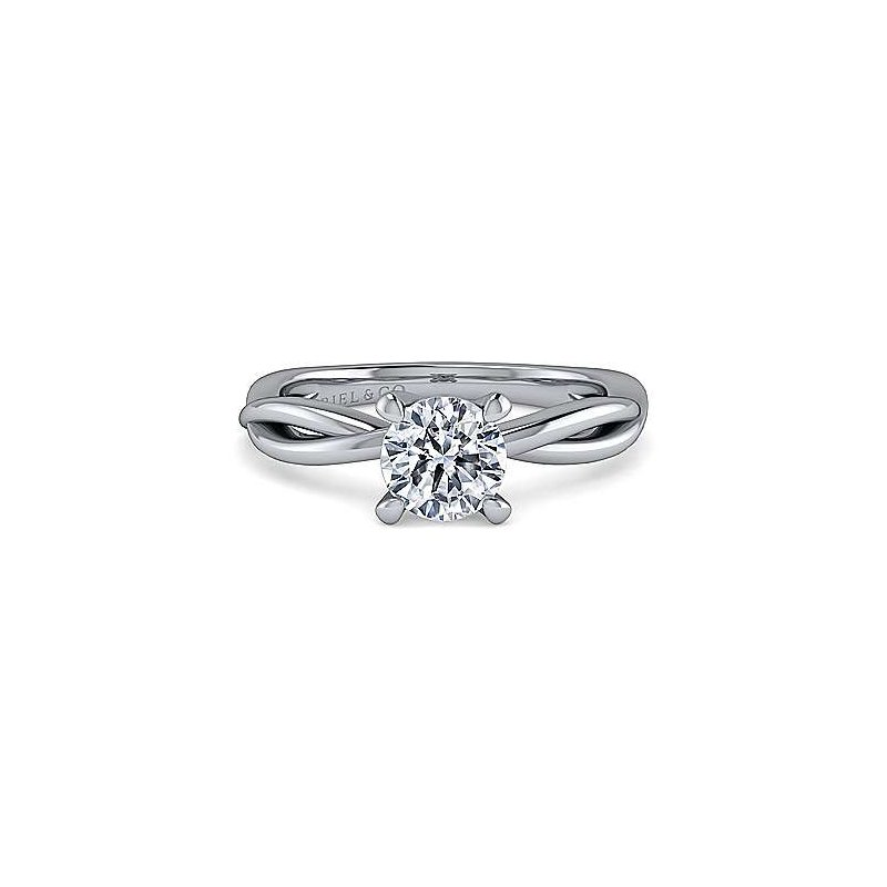 Gabriel & Co 14K White Gold Round Engagement Ring