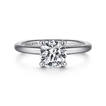 14KW RND SOLITAIRE SEMI-MOUNT ENGAGEMENT RING
