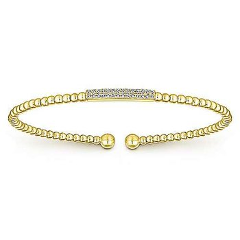 14KY 6IN 0.13TDW BEADED BANGLE