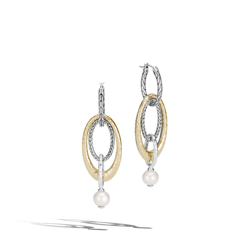 John Hardy Palu Pearl Multi Drop Link Earring