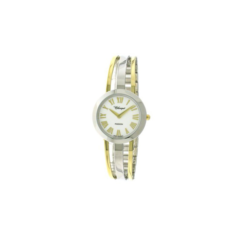 Swiss Watches Classique' Ladies Two Tone 1/2 Bangle Watch - #28-130B